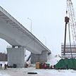 Под Гомелем началась установка опор нового автомобильного моста через Сож