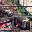 В Гонконге поезд метро в час пик сошёл с рельсов
