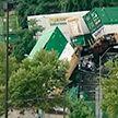 Товарный поезд сошёл с рельсов в Питтсбурге