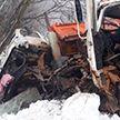Два самосвала МАЗ столкнулись на трассе лоб в лоб в Рогачёвском районе