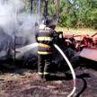 Сгорел на работе. На поле в районе деревни Недойка загорелся трактор