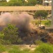 В Аризоне взорвали пролет моста с застрявшим поездом (ВИДЕО)