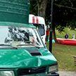Загадочное ДТП в Витебске: грузовик без водителя протаранил аттракцион в городском парке