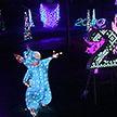 Сотни световых скульптур разместили в городском парке Могилёва.  Получилось завораживающе