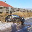 Серьёзная авария под Лидой: легковушка столкнулась лоб в лоб с фурой