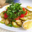 Салат из кабачков и помидоров черри. Рецепт Екатерины Тишкевич