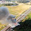 Под Дзержинском сгорела многотонная фура: столб дыма был виден за несколько километров