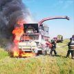 Комбайн сгорел в Рогачевском районе