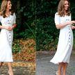 Похудевшая Кейт Миддлтон в белом платье вызвала ажиотаж в сети
