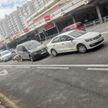 5 автомобилей столкнулись на Немиге в Минске