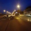 На МКАД грузовик потерял колесо, в результате произошла массовая авария