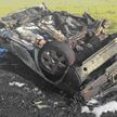 Автомобиль перевернулся и сгорел под Вороново