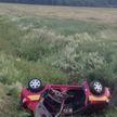Renault сбил ограждение и опрокинулся в кювет под Чаусами: пассажир вылетел из салона и погиб