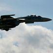 Самолет Су-27 упал в Черное море
