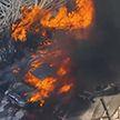 Авария и пожар произошли на трассе в США (Видео)