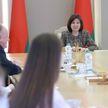 В Совете Республики Наталья Кочанова встретилась с учениками 24-й гимназии