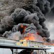 В Техасе произошел мощный пожар на предприятии. Есть пострадавшие