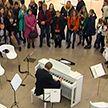 Президентский оркестр Беларуси устроил музыкальный флешмоб в Минске