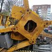 Фотофакт: в Минске упал строительный кран