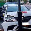 18-летняя пассажирка такси пострадала в результате аварии в Гомеле