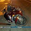 Мотоциклист сбил пытавшегося перебежать МКАД пешехода