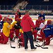 Хоккеисты национальной сборной расширенным списком продолжают подготовку к чемпионату мира в Нур-Султане