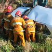 ДТП под Ивье: водителя и пассажира из машины доставали спасатели