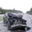 Mercedes врезался в микроавтобус с пассажирами в Смолевичском районе