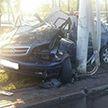Водитель Opel после погони ГАИ врезался в столб и погиб