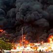 Крупный пожар произошел на рынке в ОАЭ