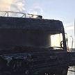 На МКАД горел грузовой автомобиль