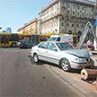 На пр. Независимости в Минске столкнулись два автомобиля. Есть пострадавшие