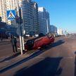 ДТП на Каменной Горке: опрокинулся автомобиль с двумя малышами
