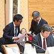 Белорусско-японский бизнес-форум проходит в Национальной библиотеке
