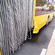 Автобус наехал на препятствие в Минске. Пострадал пассажир