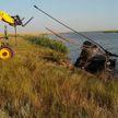 Частный вертолет совершил жесткую посадку под Ростовом: один человек погиб