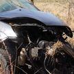 ДТП в Могилёвской области: машина зацепила обочину, вылетела в кювет и несколько раз перевернулась.