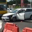 В Минске водителю стало плохо – машина протаранила металлическое ограждение