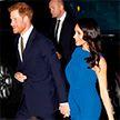 «Точно беременна». Ослепительное синее платье Меган Маркл вызвало бурную дискуссию в Интернете