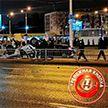 Милицейский автомобиль опрокинулся возле метро «Михалово» в результате ДТП