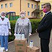 Ивенецкому дому-интернату передали защитные и дезинфецирующие средства