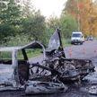 В Калинковичском районе легковушка врезалась в дерево и загорелась – погибла пассажирка