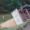 Большегруз с 24 тоннами зерна вылетел в кювет под Житковичами