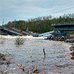 В Мурманской области рухнул железнодорожный мост через реку Кола