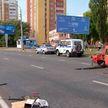 Серьёзное ДТП в Гомеле: «Жигули» вылетели на тротуар. Пострадали два человека