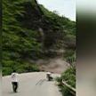 Момент схода оползня на юго-западе Китая попал на видео