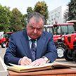 Президент Таджикистана посетил Минский тракторный завод