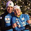 Домрачева и Бьорндален стали третьими в Рождественской гонке