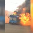 В Бобруйске во время движения загорелся рейсовый автобус