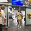 В Национальном аэропорту встретили Ксению Галецкую – победительницу международного фестиваля Sanremo Junior